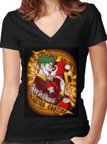 SUICIDE SQUADE Women's Fitted V-Neck T-Shirt