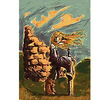 Girl with a big sword Photographic Print