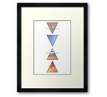 Earth, Water, Air, Fire Framed Print