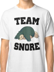 Team Snore Snorlax Classic T-Shirt