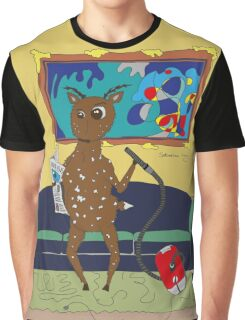 Diego the Deer Cleans Up Graphic T-Shirt