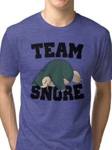 Team Snore Snorlax v2 Tri-blend T-Shirt