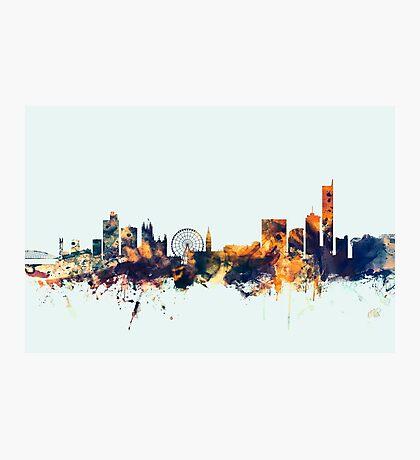 Manchester England Skyline Photographic Print