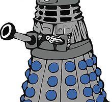 Doctor who dalek fez  by PIXELATED DINOSAUR ILLUSTRATIONS