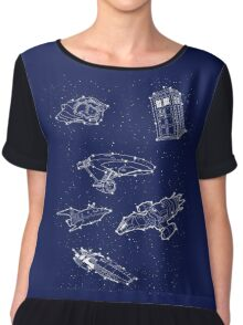 Sci fi Starry Nightsky Chiffon Top