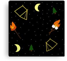 Campfire : Camping Outdoors Marshmellow Tent Design Canvas Print