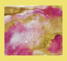 Gold foil infused pink watercolor Kids Tee