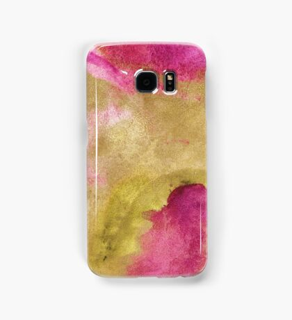 Gold foil infused pink watercolor Samsung Galaxy Case/Skin