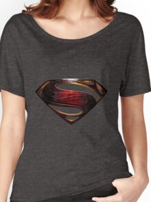 superman new blue Women's Relaxed Fit T-Shirt