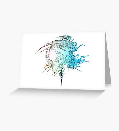 °FINAL FANTASY° Final Fantasy XIII Rainbow Logo Greeting Card