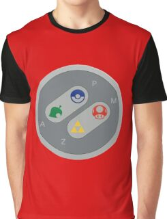 Retro Gamepad Design Graphic T-Shirt