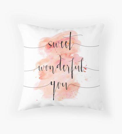 Sweet Wonderful You - Fleetwood Mac Lyrics Throw Pillow