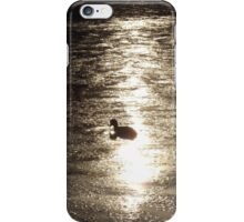 Alone on the water at dusk iPhone Case/Skin