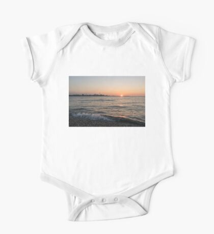 Slo-Mo Wave - Torontos Skyline from the Beach One Piece - Short Sleeve