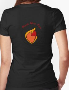 Plays With Fire - Back  Womens Fitted T-Shirt