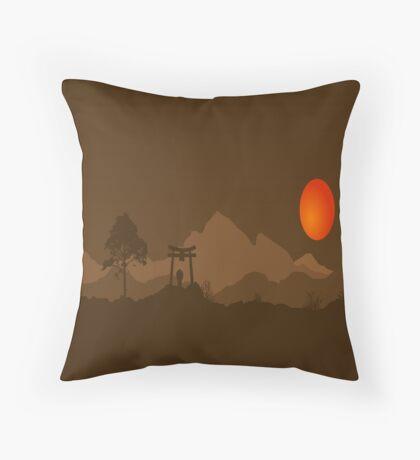 Asian Hills Throw Pillow
