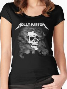 Dolly Parton Metal Women's Fitted Scoop T-Shirt