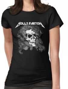 Dolly Parton Metal Womens Fitted T-Shirt