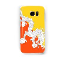 Bhutan Flag T-Shirt Dragon Sticker Samsung Galaxy Case/Skin