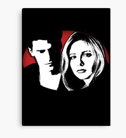 Buffy/Angel Motif Canvas Print