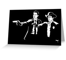Twin Peaks Pulp Fiction Greeting Card