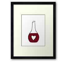 Heart Decanter (I heart red wine) Framed Print