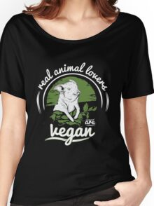 Vegan - Real Animal Lovers Are Vegan Women's Relaxed Fit T-Shirt