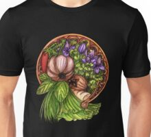 Vegan - Art Nouveau Vegetables Unisex T-Shirt