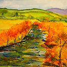 Autumn in Jamieson, on the banks of the river, VIC Australia by Margaret Morgan (Watkins)