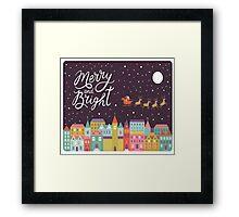 Christmas night sky Framed Print