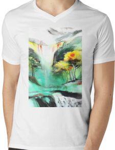 SpringFall Mens V-Neck T-Shirt