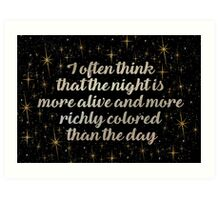 more bright and richly coloured  Art Print