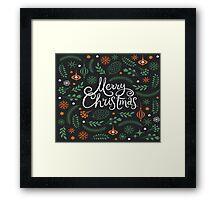 Merry Christmas greenery Framed Print
