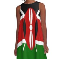Kenya Flag T-Shirt - Kenyan Nairobi Sticker A-Line Dress
