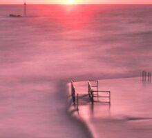 Bude, Cornwall, UK, Tidal Pool Sunset ~ Atlantic Coast Sticker