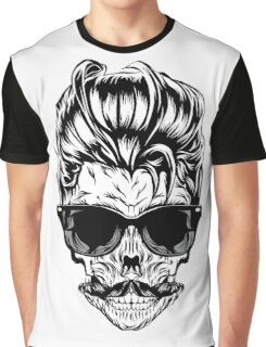 Hipster skull with sunglasses Graphic T-Shirt