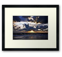 Dramatic sunset Framed Print