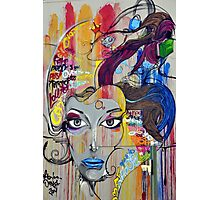 Beauty Of Graffiti: Blue Vixen Photographic Print