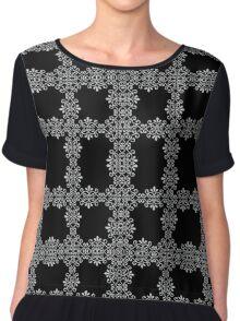 The modelling graphical lace Chiffon Top