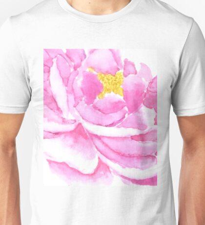 pink peony macro watercolor  Unisex T-Shirt