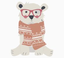 Polar bear, pattern 004 Kids Tee