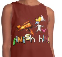 Earthworm Jim - Finish Him! Contrast Tank