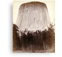 Devil's Tower - John Grabill - 1887 Canvas Print