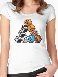 Impossible Blocks Women's Fitted Scoop T-Shirt