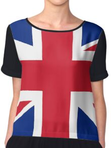 UK flag Union Jack Chiffon Top