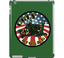 ugly but well hung green iPad Case/Skin