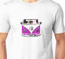 VW Camper Santa Father Christmas Purple Unisex T-Shirt