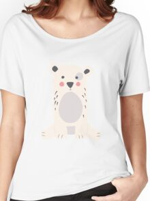 Polar bear, pattern 005 Women's Relaxed Fit T-Shirt