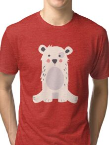 Polar bear, pattern 005 Tri-blend T-Shirt