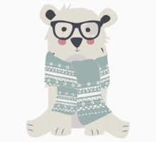 Polar bear, pattern 006 One Piece - Long Sleeve